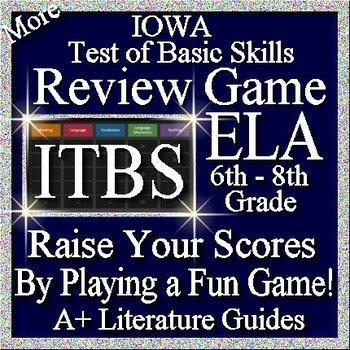 IOWA ELA Review Game VIII Grades 6 - 8 (ITBS Iowa Test of Basic Skills)