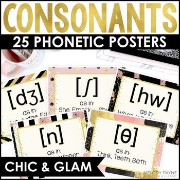 IPA Consonants Posters {IPA Chic & Glam, 25 Basic Consonants}