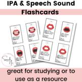 IPA & Speech Sound Flashcards for Speech Language Pathology