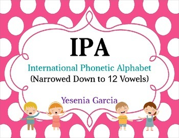 IPA  Vowel Posters (Choral Singing)