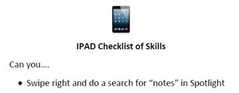 IPAD Checklist of Skills