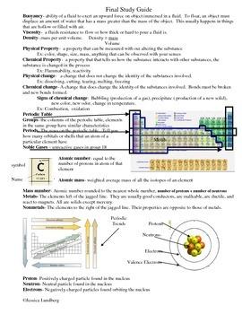 IPC Chemistry Study Guide