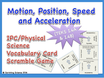 IPC Vocabulary Scramble Game: Motion, Position, Speed and