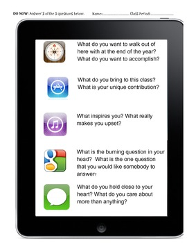 IPHONE: Get to Know Students