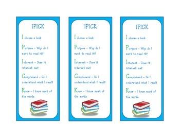 IPICK Daily 5 Bookmarks