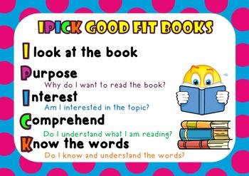 IPICK Good Fit Books Poster {Polka Dot themed}