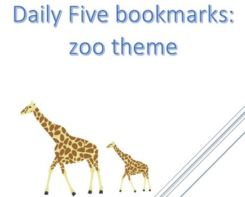 IPICK bookmarks zoo-themed