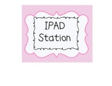 IPOD Touch, IPAD, Tablet Station Signs