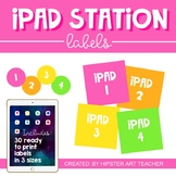 IPad labels and organization system- 30 labels in 3 sizes