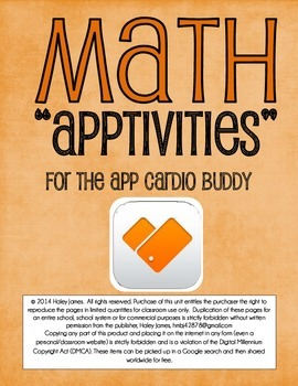 IPads and Math Apptivitiy:  Cardio Buddy