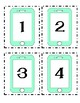 IPhone themed numbered desk labels