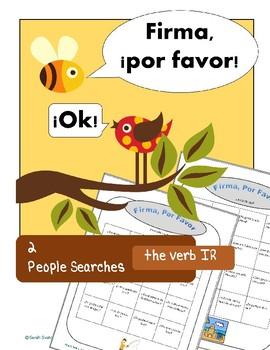 IR 2 Spanish Communicative Activities, Adonde Vas? Questionnaires