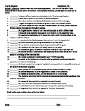 IR 9 parts of speech worksheet
