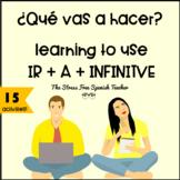 Spanish IR + A + Infinitive practice PACKET of activities