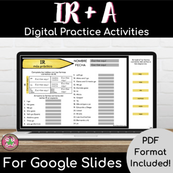 IR + A + PLACES/INFINITIVE Practice Packet