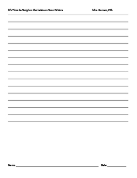 IR Argumentative parts chart and activities