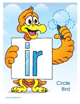 IR (Circle Bird) Word Buddy Poster