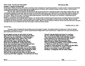 IR Diary of Anne Frank - Ch. 5 - figurative language