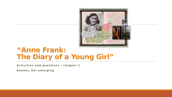 IR Diary of Anne Frank Questions and Activities - Ch. 1 ppt