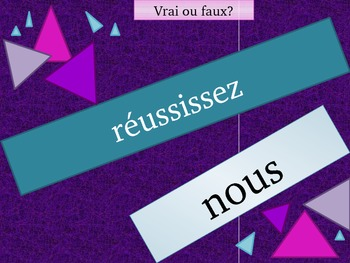 IR French verb review game