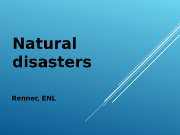 IR Natural Disasters Vocabulary