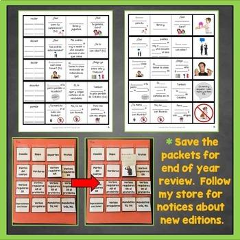 Spanish Preterite IR Verbs Interactive Notebook Trifold Flashcards, Pretérito