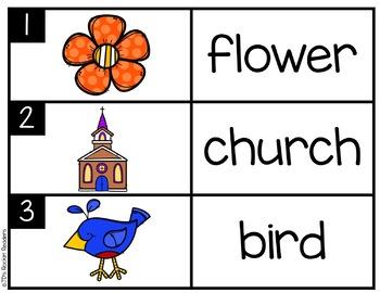 IR/UR/ER R-Controlled Vowels Literacy Center Activity