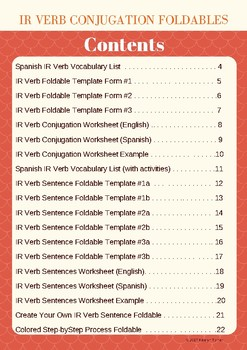 IR Verb Conjugation Foldable