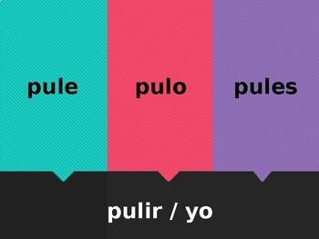 IR Verbs Matamoscas Flyswatter Spanish verb game