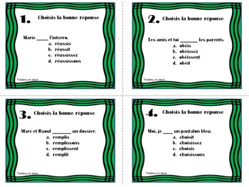 IR Verbs Present Tense Task Cards