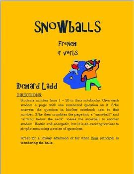 IR Verbs Snowballs FRENCH