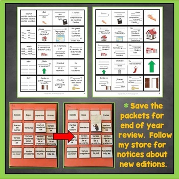 Spanish IR Verbs Interactive Notebook Trifold Flashcards