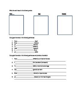 IR verb lesson page