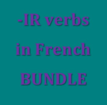 IR verbs in French Bundle
