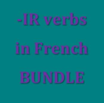 IR verbs in French Present tense Bundle