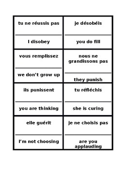 IR verbs in French Present tense Cercle magique