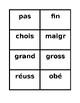 IR verbs in French Present tense sentence builder activity