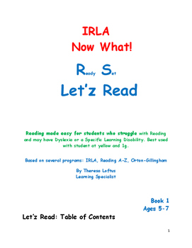 IRLA  Now What? Let'z Read