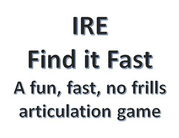 IRE Find It Fast