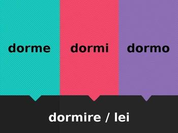 IRE verbs in Italian Scacciamosche Flyswatter game