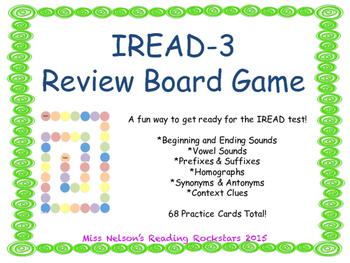 IREAD-3 Practice Board Game
