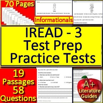 IREAD-3 Test Prep Practice Tests - Informational Passages and Questions