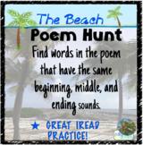 IREAD Beginning, Middle, & Ending Sound Hunt ~ Poem
