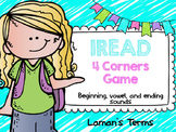 IREAD Beginning, Vowel, and Ending Sounds 4 Corners Game