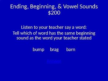 IREAD Practice Jeopardy