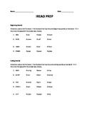 IREAD TEST PREP PACKET
