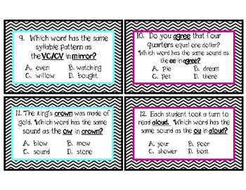 IREAD Test Prep cards-Sounds like