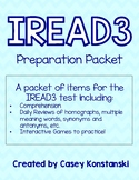 IREAD3 PREP PACKET