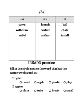 IREAD3 Practice