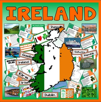 IRELAND  - GEOGRAPHY COUNTRY EIRE REPUBLIC EUROPE KEY STAGE 1-2
